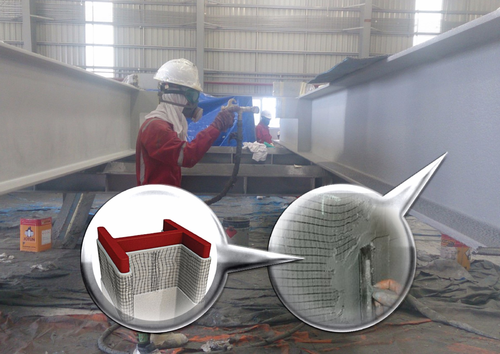 Passive Fire Protection ~ Ashmarine leaders in onsite abrasive blasting